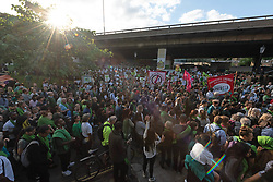 June 14, 2018 - London, London, UK - Thousands of people take part in a silent march to commemorate the 1st Anniversary of the Grenfell Tower fire disaster in London, United Kingdom, 14 June 2018 (Credit Image: © Ray Tang via ZUMA Press)
