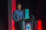KELOWNA, CANADA - MARCH 19:  Calvin Thurkauf at the Kelowna Rockets Awards Ceremony on March 19, 2017 at the Kelowna Community Theater in Kelowna, British Columbia, Canada.  (Photo By Cindy Rogers/Nyasa Photography,  *** Local Caption ***