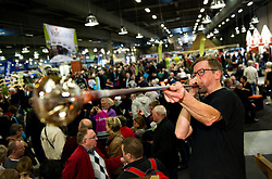 MCH: Ferie for alle 2012DK caption:.Herning, Danmark, 20120224: MCH Messe - Ferie for alle. Glaspustning.Foto: Lars Møller.UK Caption:.Herning, Denmark, 20120224: MCH Fair - Ferie for alle. Glassblowing.Photo: Lars Moeller