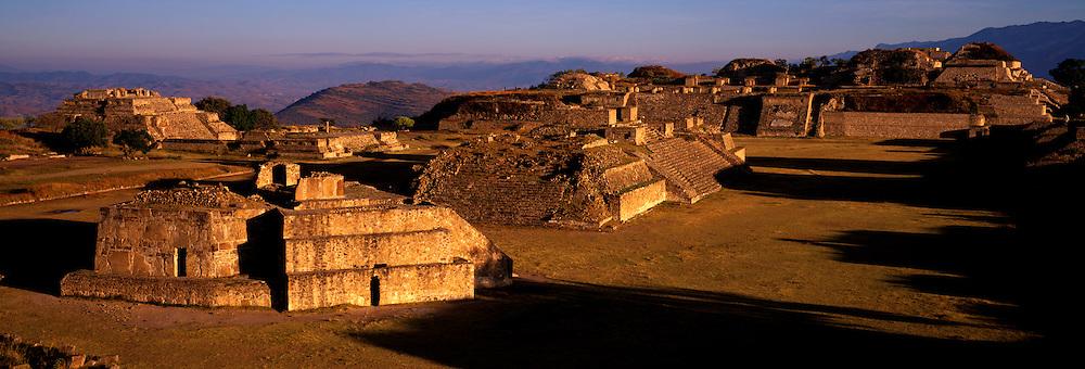 MEXICO, ZAPOTEC, OAXACA Monte Alban, hilltop site overview