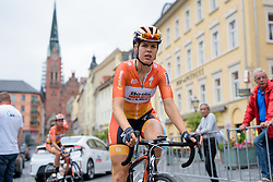 Romy Kasper makes her way to sign in with her Boels Dolmans teamamtes at Thüringen Rundfarht 2016 - Stage 3 a 115km road race starting and finishing in Altenburg, Germany on 17th July 2016.