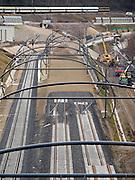 Bauarbeiten an der neuen Streckenverbindung zum Prager Masaryk- und Hauptbahnhof.<br /> <br /> Contruction works on the railway track to the Prague Masaryk- and main railway station.