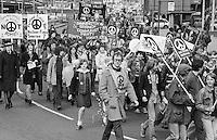 CND march, Sheffield. 10-04-1982