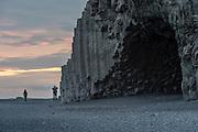Lava columns near Reynisdrangar in south-Iceland.