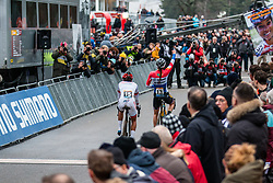 Finish of the Women Elite race with a victory for BRAND Lucinda (NED), 2019 UCI Cyclo-cross World Cup Heusden-Zolder, Belgium, 26 December 2019. <br /> <br /> Photo by Pim Nijland / PelotonPhotos.com <br /> <br /> All photos usage must carry mandatory copyright credit (Peloton Photos | Pim Nijland)