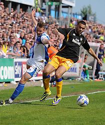 Bristol Rovers' Seanan Clucas battles for the ball  - Photo mandatory by-line: Joe Meredith/JMP - Mobile: 07966 386802 03/05/2014 - SPORT - FOOTBALL - Bristol - Memorial Stadium - Bristol Rovers v Mansfield - Sky Bet League Two
