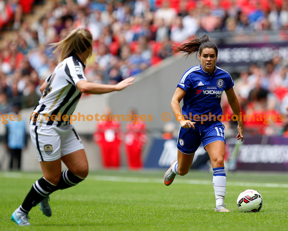 Claire Rafferty of Chelsea Ladies on the attack during the SSE Women's FA Cup final between Chelsea Ladies and Notts County Ladies at Wembley Stadium on the 1/8/2015<br /> Carlton Myrie / TELEPHOTO IMAGES