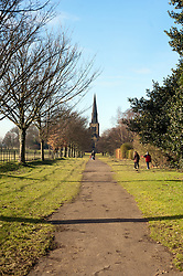 "Wentworth's Victorian ""new"" church commissioned in 1872 by the 6th Earl of Fitzwilliam at a cost of around £25,000 in memory of his parents and dedicated to the Holy Trinity. Designed in Gothic revival style by leading Victorian church architect James Loughborough Pearson who also designed Truro Cathedral its spire is almost 200 feet is visible for miles around...29 January 2010.Images © Paul David Drabble"