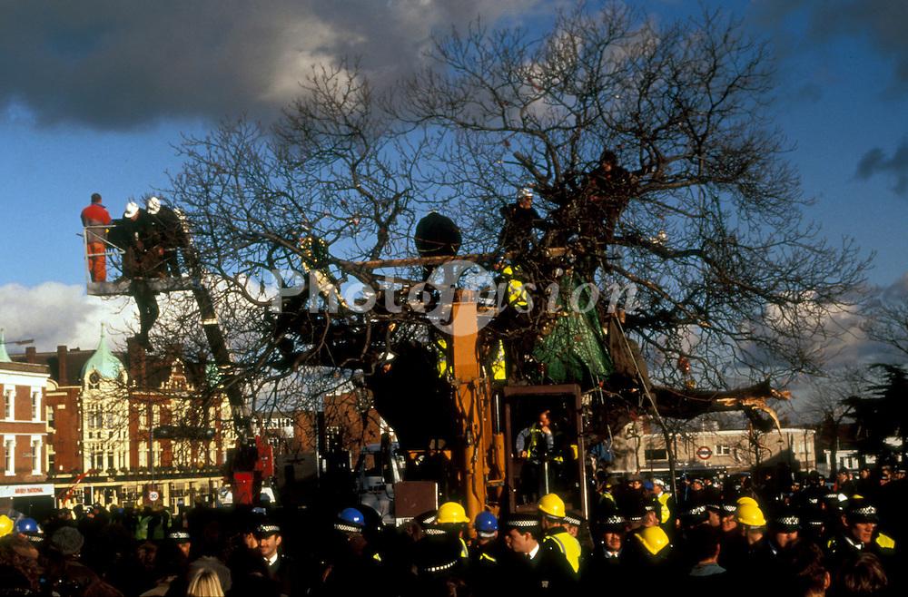 M11 Link Road protest; East London 1993 UK