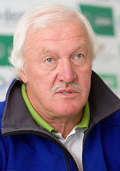 Coach Milos Jansa at media day of Slovenian National rowing team before World Championships in New Zealand 2010 on October 14, 2010 in Mala Zaka, Bled, Slovenia. (Photo by Vid Ponikvar / Sportida)
