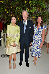 Left to right, the DUKE & DUCHESS OF MARLBOROUGH and LADY HENRIETTA SPENCER-CHURCHILL at a dinner hosted by Cartier in celebration of The Chelsea Flower Show held at The Hurlingham Club, London on 19th May 2014.