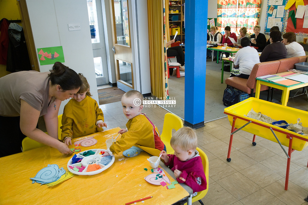 Creche at adult education centre,