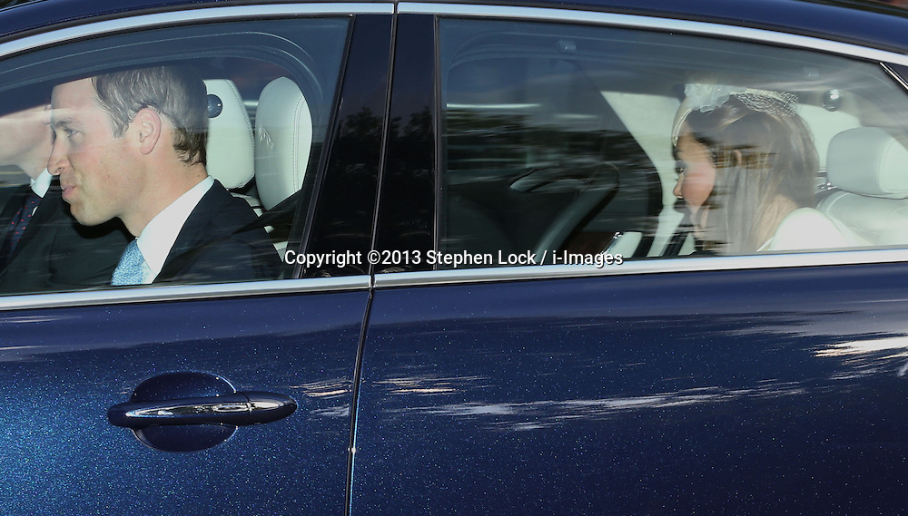The Duke and Duchess of Cambridge  arriving for Prince George's christening at St.James's Palace in London, United Kingdom,  Wednesday, 23rd October 2013. Picture by Stephen Lock / i-Images