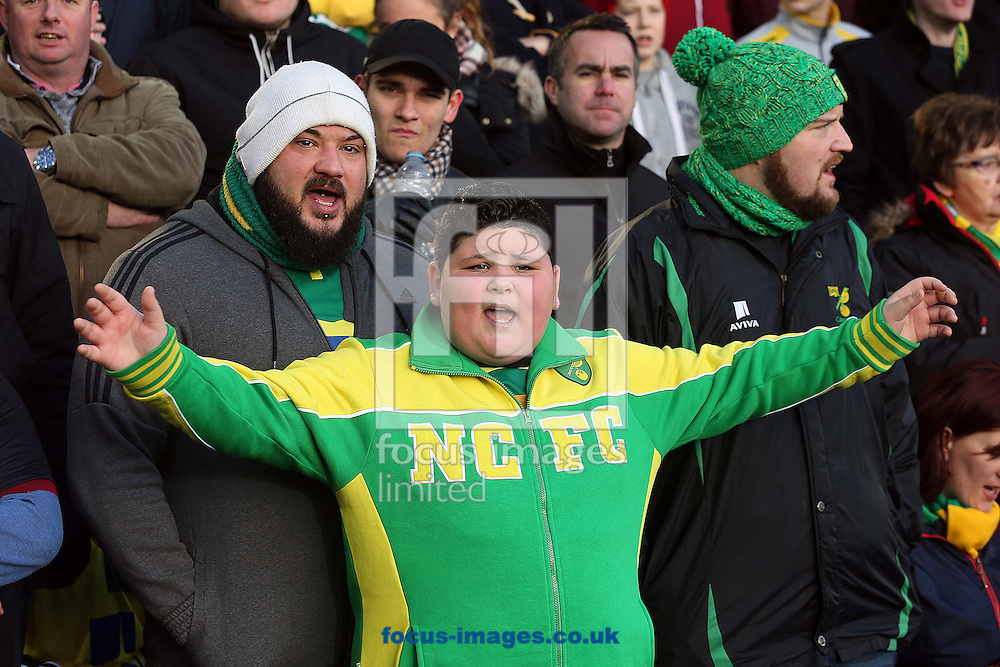 The Norwich fans get behind their side before the Sky Bet Championship match at Carrow Road, Norwich<br /> Picture by Paul Chesterton/Focus Images Ltd +44 7904 640267<br /> 02/01/2017