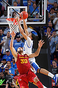 Anthony Davis #23 of the Kentucky Wildcats gets fouled as he goes to the basket against Royce White #30 of the Iowa State Cyclones during the third round of the NCAA men's basketball championship on March 17, 2012 at KFC Yum! Center in Louisville, Kentucky. Kentucky advanced with an 87-71 win. (Photo by Joe Robbins)