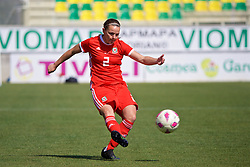 LARNACA, CYPRUS - Wednesday, March 7, 2018: Wales' Loren Dykes during the Cyprus Women's Cup match between Austria and Wales on day nine of the Cyprus Cup tournament at the AEK Arena - Georgios Karapatakis. (Pic by David Rawcliffe/Propaganda)
