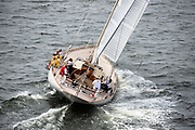 Wild Horses sailing in the Museum of Yachting Classic Yacht Regatta.