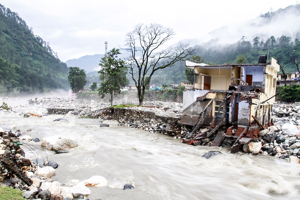 3rd July 2013. On the 16th and 17th June, the South West monsoon came earlier than expected with particularly heavy rain fall in the North Indian Himalayan state of Uttarakhand, the level of destruction is only just being realised as previously inaccessible areas are just being reached.MANDATORY CREDIT: © Sam Spickett/RedR India, under license to London News Pictures.