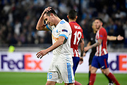 Forward Florian Thauvin of Olympique de Marseille looks dejected during the UEFA Europa League, Final football match between Olympique de Marseille and Atletico de Madrid on May 16, 2018 at Groupama Stadium in Decines-Charpieu near Lyon, France - Photo Jean-Marie Hervio / ProSportsImages / DPPI