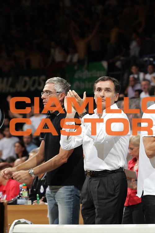 DESCRIZIONE : Bologna Lega A1 2006-07 Playoff Finale Gara 2 VidiVici Virtus Bologna Montepaschi Siena <br /> GIOCATORE : Claudio Sabatini <br /> SQUADRA : VidiVici Virtus Bologna <br /> EVENTO : Campionato Lega A1 2006-2007 Playoff Finale Gara 2 <br /> GARA : VidiVici Virtus Bologna Montepaschi Siena <br /> DATA : 15/06/2007 <br /> CATEGORIA : Esultanza <br /> SPORT : Pallacanestro <br /> AUTORE : Agenzia Ciamillo-Castoria