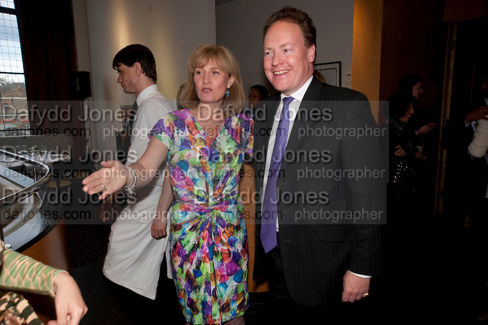 ALISON MAYNE; GILES PRETOR-PINNEY, Literary charity First Story fundraising dinner. Cafe Anglais. London. 10 May 2010. *** Local Caption *** -DO NOT ARCHIVE-© Copyright Photograph by Dafydd Jones. 248 Clapham Rd. London SW9 0PZ. Tel 0207 820 0771. www.dafjones.com.<br /> ALISON MAYNE; GILES PRETOR-PINNEY, Literary charity First Story fundraising dinner. Cafe Anglais. London. 10 May 2010.