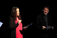 New York , NY March 28, 2017 : Symphony Space presents After Anatevka Tevye's Daughter's Beyond &quot;Tradition&quot; with readings and performance by Alexandra Silber and <br /> John Cullum, Jessica Fontana, Santino Fontana, Ron Raines, Daniel Rowan, Isabel Santiago and Ryan Silverman<br /> <br /> .Photo Rahav Iggy Segev / Photopass.com