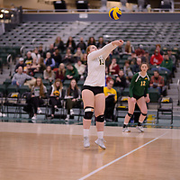 4th year libero  Taylor Ungar (13) of the Regina Cougars in action during Women's Volleyball home game on February 3 at Centre for Kinesiology, Health and Sport. Credit: Arthur Ward/Arthur Images