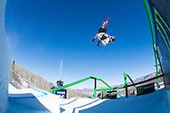 Andreas Hatveit during Ski Slopestyle Finals at 2014 X Games Aspen at Buttermilk Mountain in Aspen, CO. ©Brett Wilhelm/ESPN