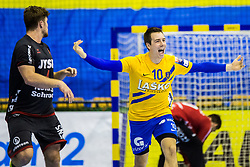 Ovincek Rok of RK Celje Pivovarna Lasko during handball match between RK Celje Pivovarna Lasko (SLO) and SG Flensburg Handewitt (GER) in 3rd Round of EHF Men's Champions League 2018/19, on September 30, 2018 in Arena Zlatorog, Celje, Slovenia. Photo by Grega Valancic / Sportida