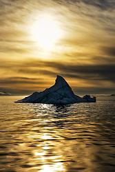 Iceberg in Hinlopen, Svalbard, Norway