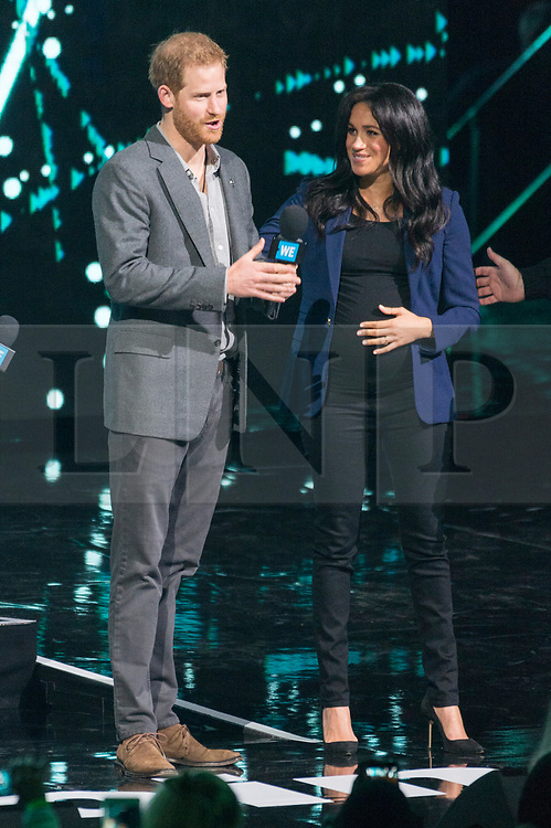 © Licensed to London News Pictures. 06/03/2019. London, UK. Harry, Duke of Sussex and Meghan, Duchess of Sussex attend WE Day UK at SSE Arena, Wembley. Photo credit: Ray Tang/LNP
