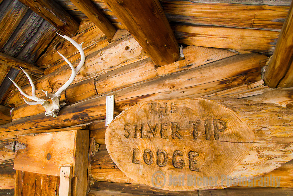 "The ""Silver Tip Lodge"" at the historic Aneroid Lake Cabins.  Wallowa Mountains, Eagle Cap Wilderness Area, Oregon."
