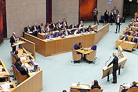 Nederland. Den Haag, 26 oktober 2010.<br /> De Tweede Kamer debatteert over de regeringsverklaring van het kabinet Rutte.<br /> Wilders interrumpeert Cohen, PVV ,PvdA<br /> Kabinet Rutte, regeringsverklaring, tweede kamer, politiek, democratie. regeerakkoord, gedoogsteun, minderheidskabinet, eerste kabinet Rutte, Rutte1, Rutte I, debat, parlement<br /> Foto Martijn Beekman
