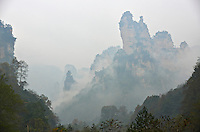 Chine, Hunan, Zhangjiajie, region panoramique et historique de Wulingyuan, patrimoine mondial Unesco // China, Hunan Province, Zhangjiajie, Wulingyuan Scenic Area, Zhangjiajie National Forest Park, Unesco world Heritage