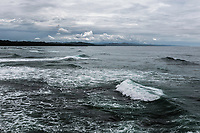 Stormy waters off beach near Punta Uva, Costa Rica. Copyright 2017 Reid McNally.