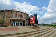 General exterior views of the Pro Football Hall of Fame in Canton, Ohio on June 30, 2013.<br /> <br /> © 2013 Scott A. Miller