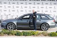 Zinedine Zidane of Real Madrid CF poses for a photograph after being presented with a new Audi car as part of an ongoing sponsorship deal with Real Madrid at their Ciudad Deportivo training grounds in Madrid, Spain. November 23, 2017. (ALTERPHOTOS/Borja B.Hojas)