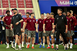 MADRID, SPAIN - Friday, May 31, 2019: Liverpool's manager Jürgen Klopp (L) during a training session ahead of the UEFA Champions League Final match between Tottenham Hotspur FC and Liverpool FC at the Estadio Metropolitano. (Pic by Handout/UEFA)