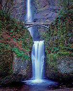 Multnomah Falls is a waterfall on the Oregon side of the Columbia River Gorge, located east of Troutdale, between Corbett and Dodson, along the Historic Columbia River Highway.