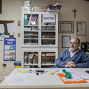 Pietro Gamba in his office in Anzaldo, near Cochabamba, in the Bolivian Andes