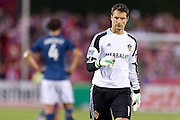 FRISCO, TX - AUGUST 11:  Carlo Cudicini #1 of the Los Angeles Galaxy looks on against FC Dallas on August 11, 2013 at FC Dallas Stadium in Frisco, Texas.  (Photo by Cooper Neill/Getty Images) *** Local Caption *** Carlo Cudicini