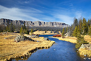 Brooks Lake Creek, Brooks Lake, Breccia Cliffs, Absaroka Mountains, Dubois Wyoming