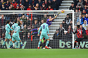 Bernd Leno (19) of Arsenal makes a save during the Premier League match between Bournemouth and Arsenal at the Vitality Stadium, Bournemouth, England on 25 November 2018.