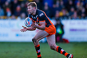 Castleford Tigers centre Michael Shenton (4) in action  during the Betfred Super League match between Castleford Tigers and Widnes Vikings at the Jungle, Castleford, United Kingdom on 11 February 2018. Picture by Simon Davies.