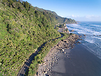 Coastal highway through Paparoa National Park, West Coast South Island