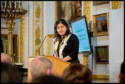 Image ©Licensed to i-Images Picture Agency. 08/07/2014. London, United Kingdom. Sayeeda Warsi speaking at the Srebrenica Memorial Reception at Lancaster House. Picture by Andrew Parsons / i-Images