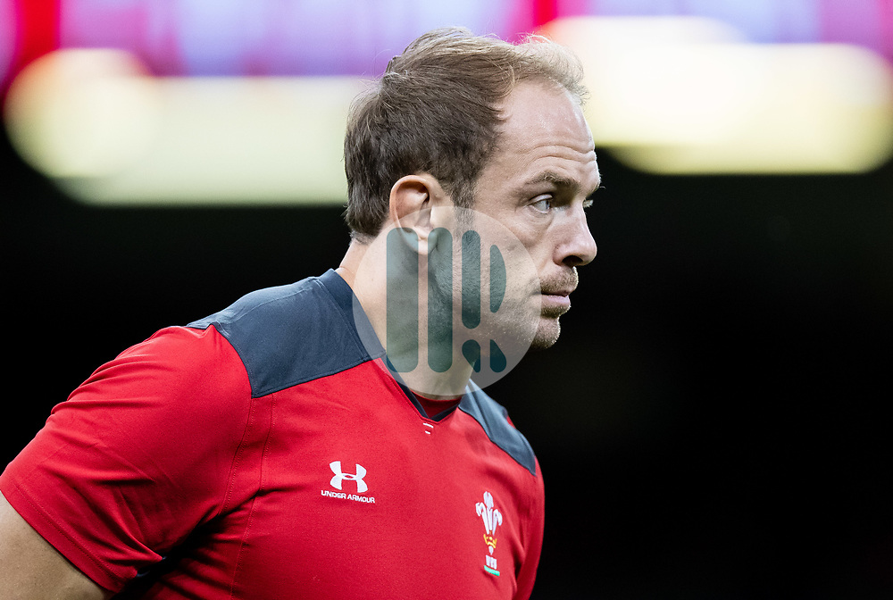 Alun Wyn-Jones of Wales during the pre match warm up<br /> <br /> Photographer Simon King/Replay Images<br /> <br /> Friendly - Wales v Ireland - Saturday 31st August 2019 - Principality Stadium - Cardiff<br /> <br /> World Copyright © Replay Images . All rights reserved. info@replayimages.co.uk - http://replayimages.co.uk