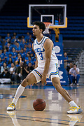 UCLA Bruins guard Jules Bernard (3) dribbles against the San Jose State Spartans during an NCAA college basketball game, Sunday, Dec. 1, 2019, in Los Angeles. UCLA defeated San Jose State 93-64. (Jon Endow/Image of Sport)