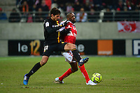 Pablo CHAVARRIA / Mohamed FOFANA - 25.01.2015 - Reims / Lens  - 22eme journee de Ligue1<br />Photo : Dave Winter / Icon Sport
