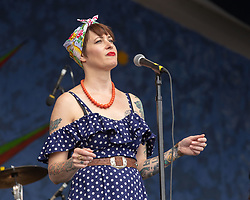 May 3, 2018 - New Orleans, Louisiana, U.S - GAL HOLIDAY performs during 2018 New Orleans Jazz and Heritage Festival at Race Course Fair Grounds in New Orleans, Louisiana (Credit Image: © Daniel DeSlover via ZUMA Wire)
